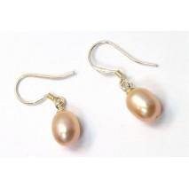 Boucles d'oreilles perles de culture violine clair forme goutte