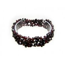 Bracelet en perles de grenat