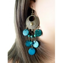 Boucles d'oreilles bronze et coco couleur