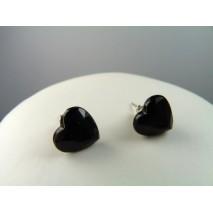 Boucles d'oreilles forme de coeur en cristal acrylique