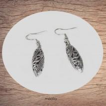 Boucles d'oreilles cone filigrané argent