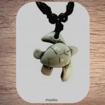 Maolia - Collier tortue blanche