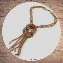 Maolia - Collier grosse tresse de chaines dorées