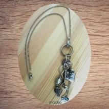 Maolia - Sautoir argent pendentif pampilles