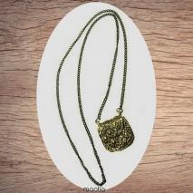 Maolia - Sautoir petit sac bronze