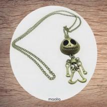 Maolia - Sautoir tendre squelette bronze