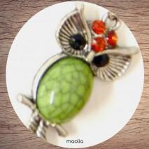 Maolia - Collier chouette corps de couleur