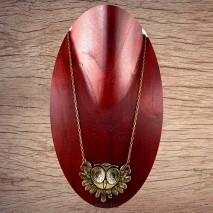 Maolia - Collier pendentif chouette bronze