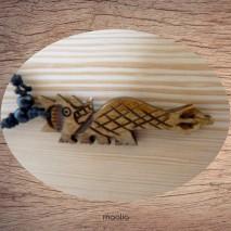 Maolia - Collier pendentif os de buffle dragon