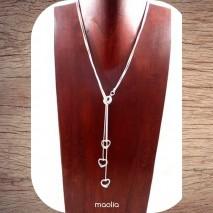 Maolia - Collier trois coeurs et trois chaines