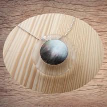 Maolia - Collier pendentif transparent nacré