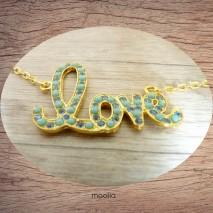 Maolia - Collier doré LOVE