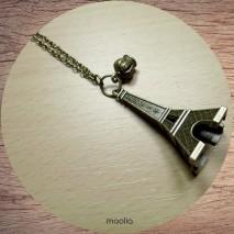 Maolia - Sautoir Tour Eiffel bronze