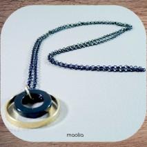 Maolia - Sautoir noir et or