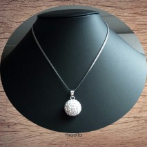 Collier grosse perle strass