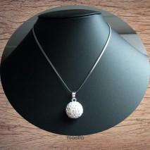 Maolia - Collier grosse perle strass