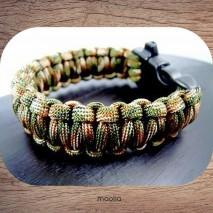 Maolia - Bracelet tressé survival corde