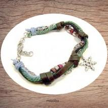 Maolia - Bracelet en cuir et cordon avec étoile