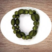 Maolia - Bracelet perles magiques vertes