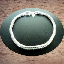 Bracelet épuré en maille serpent plaqué argent