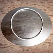 Bracelet anneau plaqué argent