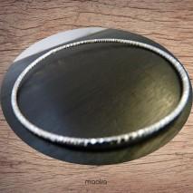 Maolia - Bracelet anneau ciselé plaqué argent