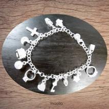 Bracelet breloques plaqué argent