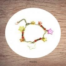 Maolia - Bracelet nacre étoiles