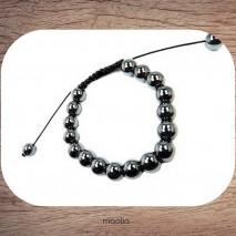 Maolia - Bracelet hématite ronde