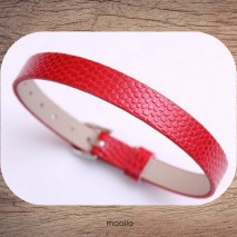 Bracelet cuir synthétique couleur