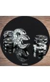 Maolia - Lettres strass argent pour bracelet cuir