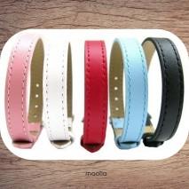 Maolia - Bracelet véritable cuir couleur