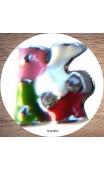 Maolia - Lettres émaillées de couleur pour bracelet cuir