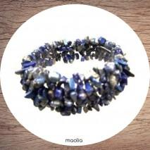 Bracelet en perles baroques de lapis lazuli
