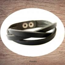 Maolia - Bracelet tresse couleur au choix