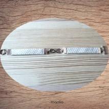 Maolia - Bracelet beige et blanc infinity