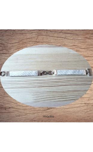 Bracelet beige et blanc infinity