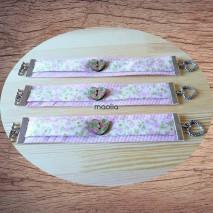 Maolia - Bracelet rose double et bouton fleuri