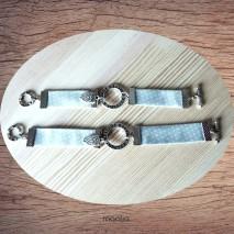 Maolia - Bracelet bleu et blanc Forever