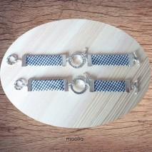 Maolia - Bracelet noir et blanc Forever