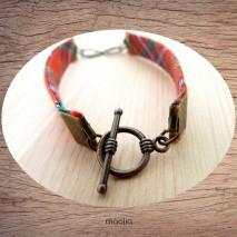 Maolia - Bracelet tissu écossais infinity