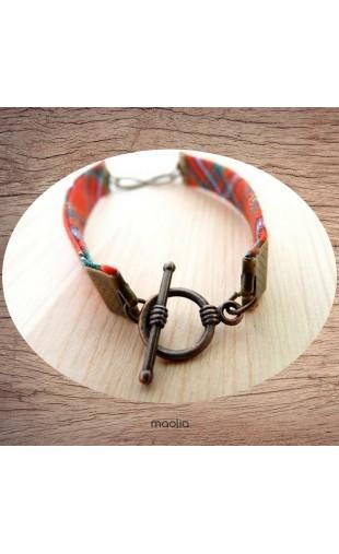 Bracelet tissu écossais infinity