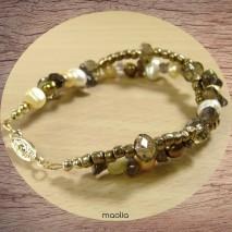 Bracelet perles de culture deux fils