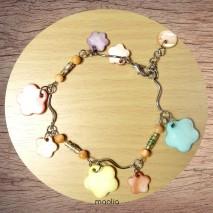 Bracelet nacre fleurs