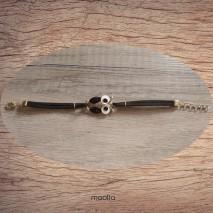 Maolia - Bracelet chouette émaillée finition dorée