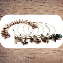 Maolia - Bracelet cinq tours bronze
