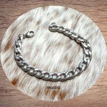 Maolia - Bracelet homme mailles en acier inoxydable petit fermoir