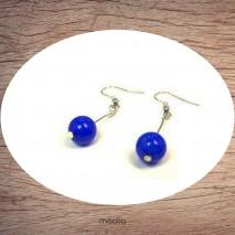 Boucles d'oreilles en lapis lazuli reconstitué