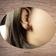 Boucles d'oreilles coccinelle rouge