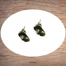 Boucles d'oreilles tong bronze